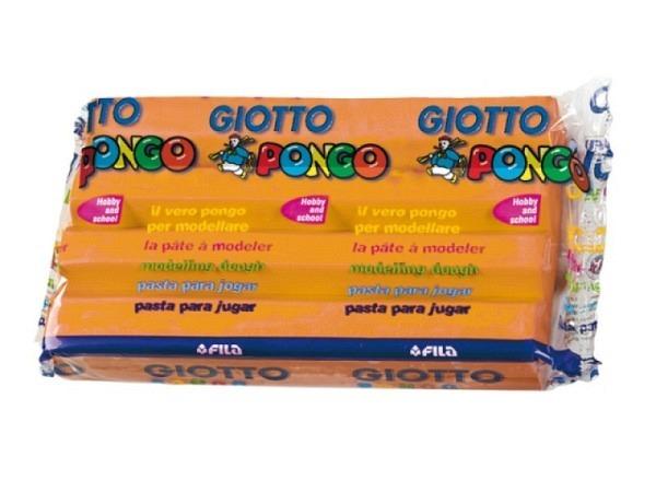 Knetmasse Giotto 500g orange leichtes Plastilin, pflanzlich