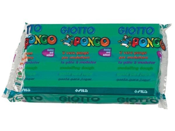 Knetmasse Giotto 500g grün leichtes Plastilin, pflanzlich