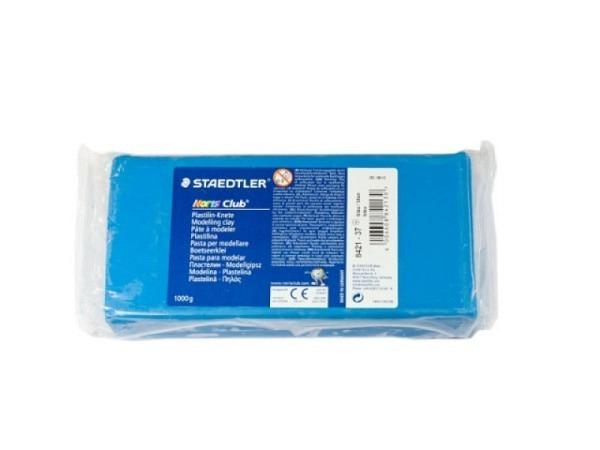 Knetmasse Staedtler Plastilin Knete 1kg blau Noris Club
