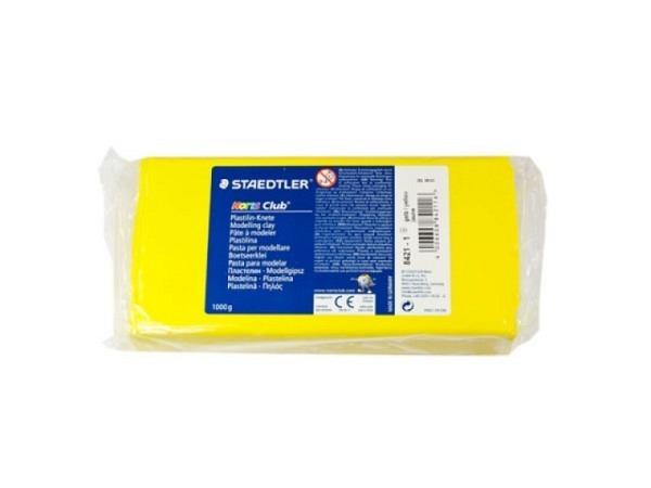 Knetmasse Staedtler Plastilin Knete 1kg gelb Noris Club