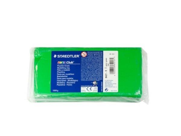 Knetmasse Staedtler Plastilin Knete 1kg grün Noris Club