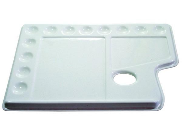 Palette Lascaux Kunststoff 37x25cm weiss unzerbrechlich