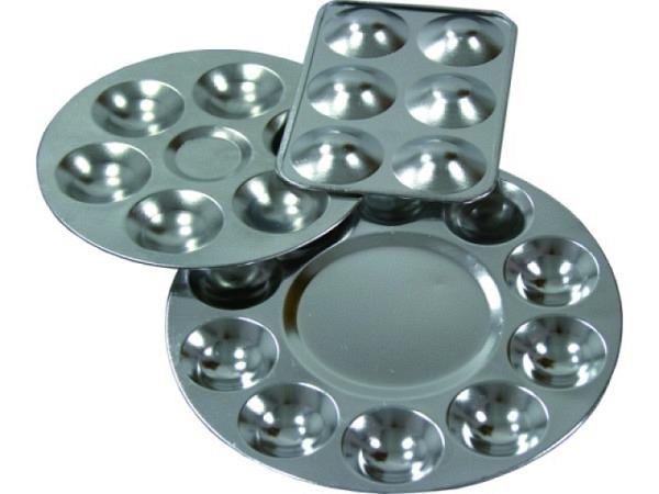 Palette Aluminium rund D:13,5cm 10 Vertiefungen