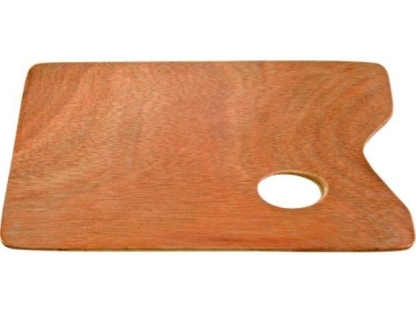 Palette Holz eckig 27x41cm 5mm lackiert, Meranti furniert