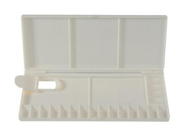 Palette Klapppalette aus Kunststoff, weiss mit Deckel