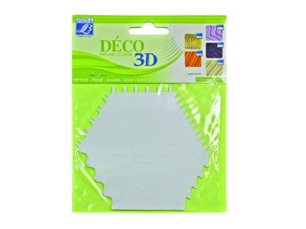 Spachtel Lefranc Bourgeois Deco-3D-Kamm 6x versch. Gestaltet