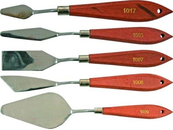 Spachtel Conda 1021 schmal rechteckig 6x1,5cm, Griff 11,5cm
