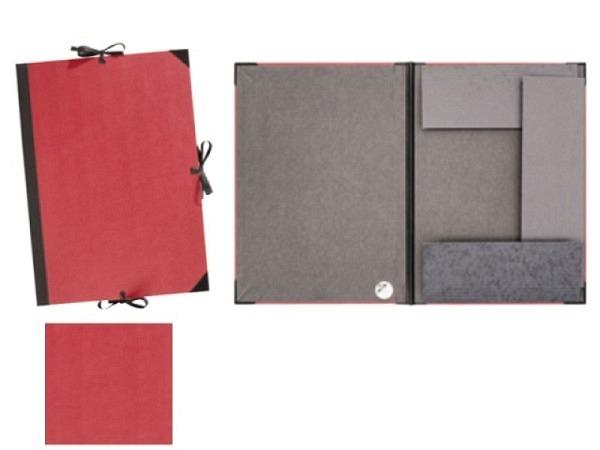 Zeichenmappe Prat 45x66cm für A2 aus rotem Karton