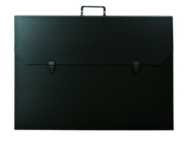 Zeichenkoffer schwarz 62x88x4,5cm