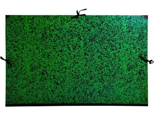 Zeichenmappe Exacompta grün-schwarz marmoriert 67x94cm