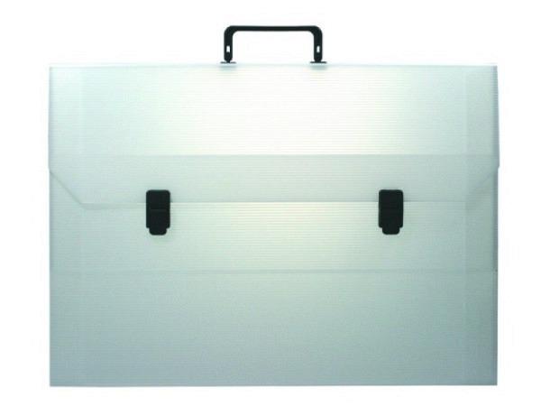 Zeichenkoffer transparent 37,5x53,5x3,5cm