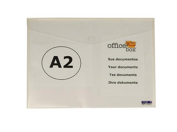 Zeichenmappe Office Box Couvertform A2 quer, aus mattem farblos tran..