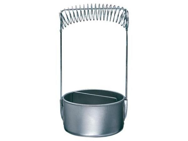 Pinselwascher Aluminium mit Spiralhalterung und Sieb
