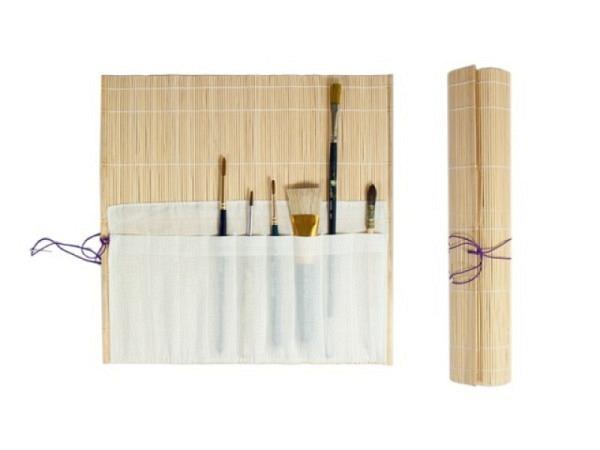 Pinselmatte Bambus 33x33cm naturbelassen