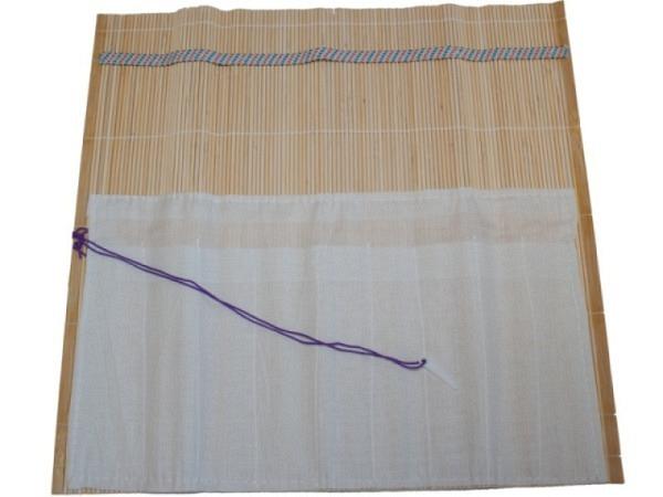 Pinselmatte Conda Bambus naturfarben m. Baumwoll-Innentasche