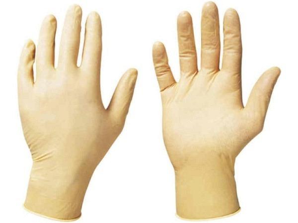 Handschuhe Latex weiss 1Paar mittlere Grösse mit Maisstärke