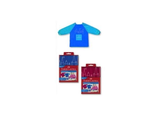 Malschürze Faber-Castell blau mit hellblauen Ärmeln