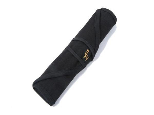Stifttasche Nylon schwarz leer mit 37 Laschen Zeichenstifte