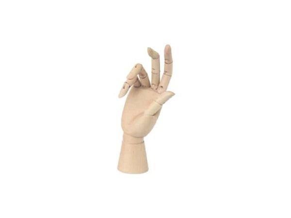 Gliederpuppe Kinderhand rechts, 20cm Gesamthöhe