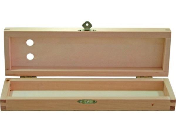 Pinselkasten Holz 27x8x4cm aus Buchenholz natur