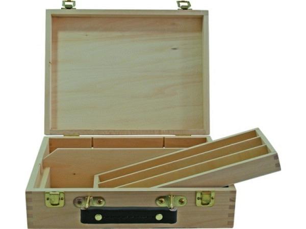 Holzkoffer leer 28x22x8cm aus Buchenholz natur