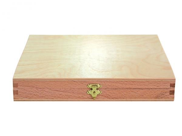 Holzkoffer leer 25x12x6cm Buche natur