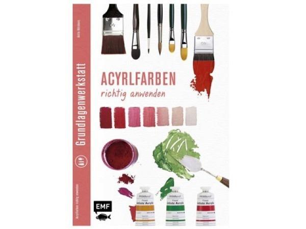 Buch Grundlagenwerkstatt, Akrylfarben richtig anwenden