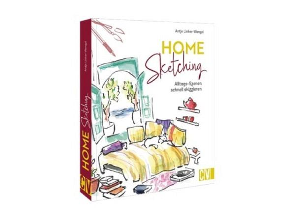 Buch Mit Skizzenbuch und Bleistift unterwegs