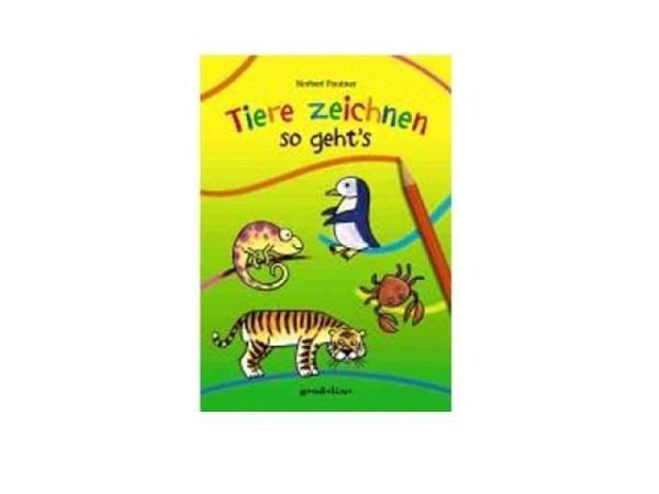 Buch Tiere zeichnen so geht's, 24,8x17,8cm, 56 Seiten