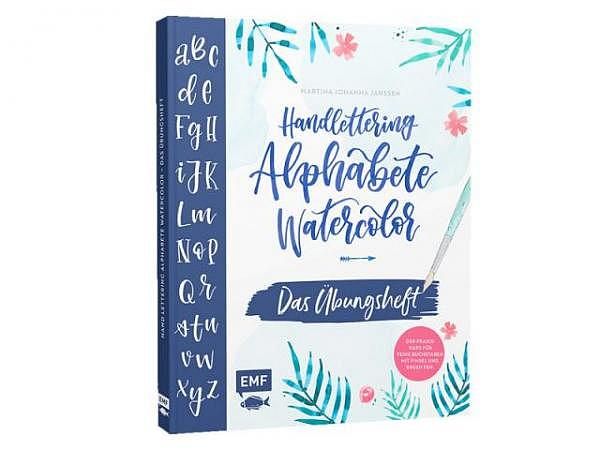 Buch Handlettering Alphabete Watercolor