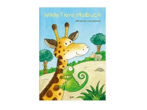 Malbuch Wilde Tiere-Malbuch A4