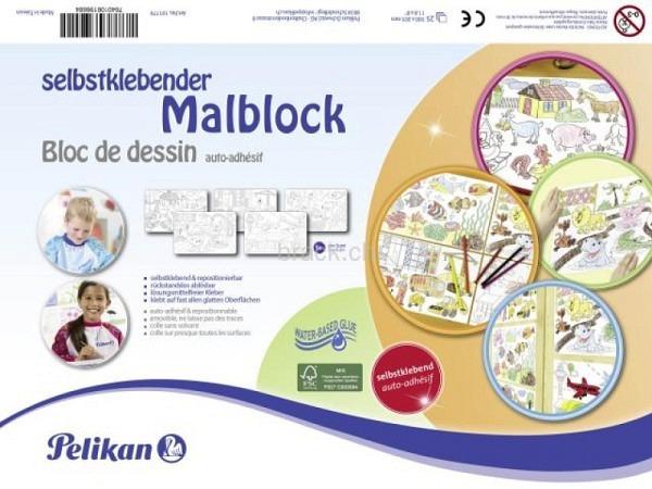 Malbuch Pelikan selbstklebender Malblock für Kinder, 20x29,7