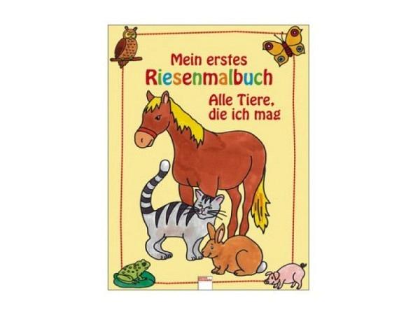 Buch Mein erstes Riesenmalbuch - Alle Tiere die ich mag