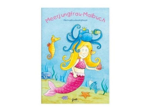 Malbuch Meerjungfrau und Fische 14,8x21cm