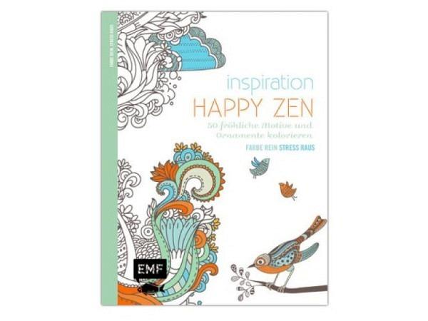 Malbuch Inspiration Happy Zen, Ausmalbuch für Erwachsene