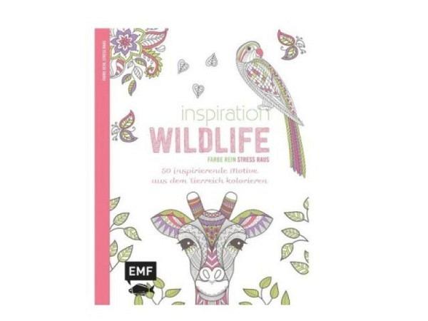 Malbuch Inspiration Wildlife, Farbe rein, stress raus