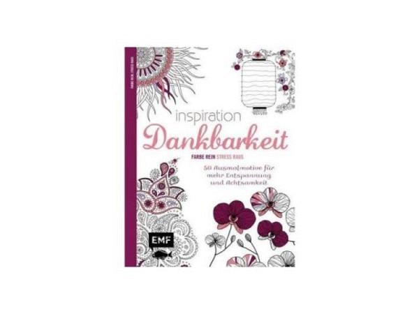 Malbuch Inspiration Dankbarkeit. Ausmalbuch für Erwachsene