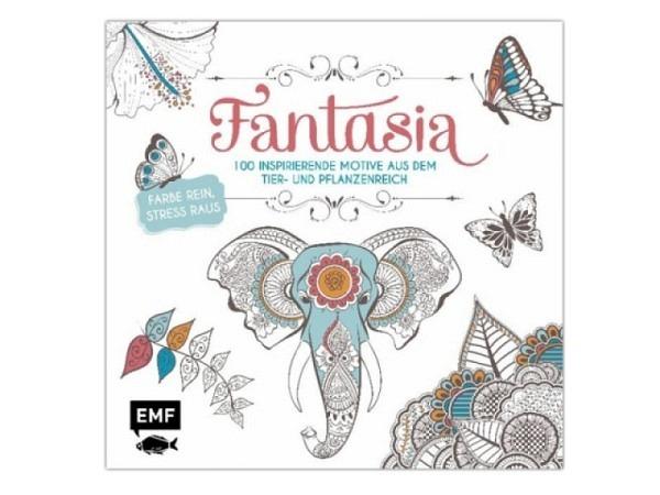 Malbuch Fantasia, Ausmalbuch für Erwachsene, 22,6x22,6cm
