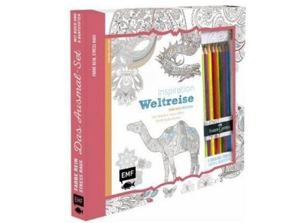 Malbuch Inspiration Weltreise, Farbe rein, stress raus