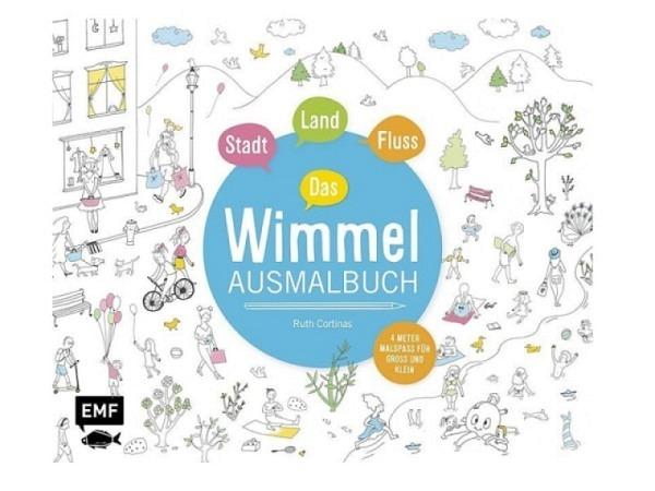 Malbuch Stadt, Land, Fluss - Das Wimmel-Ausmalbuch