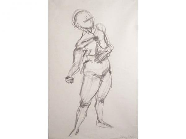 Aktmodell zeichnen, Nr. 25