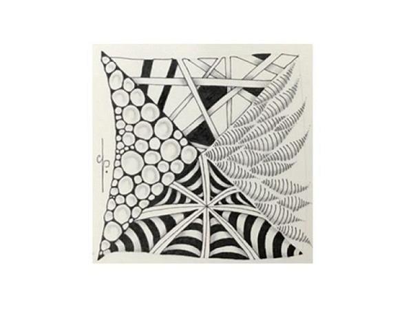 Zentangle - Basiskurs bei Claudia Schaulin, Nr. 72