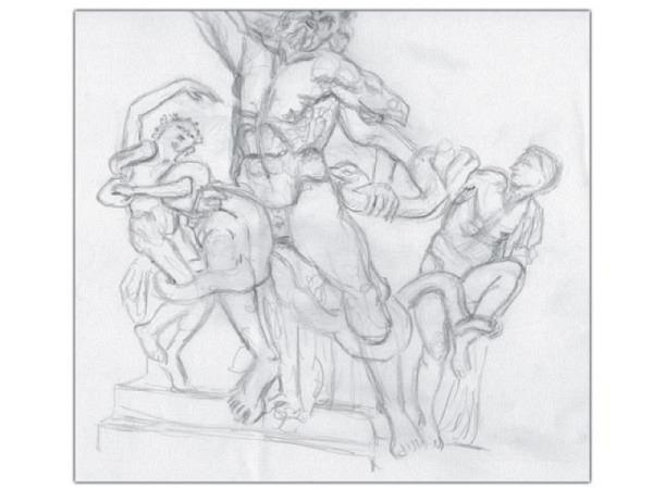 Zeichnen und Skizzieren im Freien und Museen bei Cornelia Kaufmann, ..