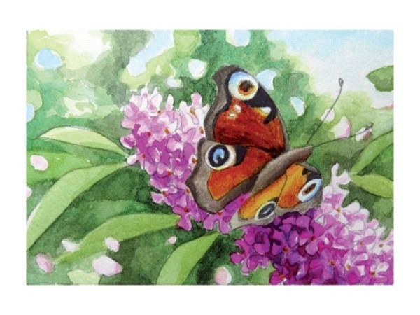 Zeichnen und Malen mit farbiger Tusche bei Lea Joos, Nr. 28
