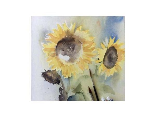 Malen mit Schmincke - Sonnenblumen, Nr. 55