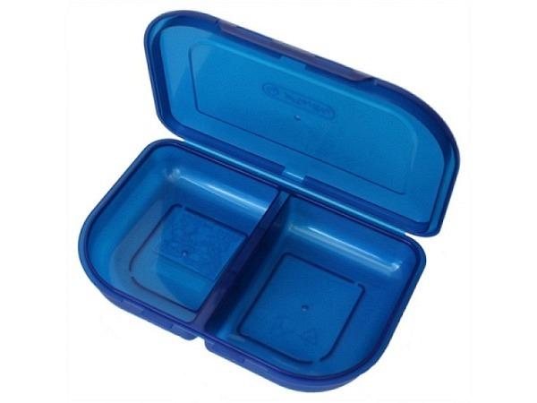 Lunchbox Herlitz blau mit zwei Fächern