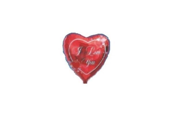 Ballone Folie luftbefüllt Herzform I love you