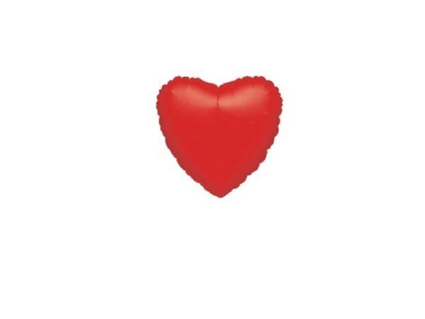 Ballone Folie luftbefüllt Herzform rot