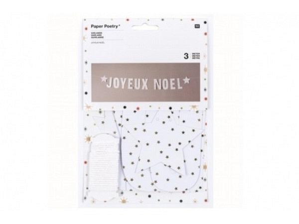 Girlande PaperPoetry Joyeux Noël mit 3 m Garn
