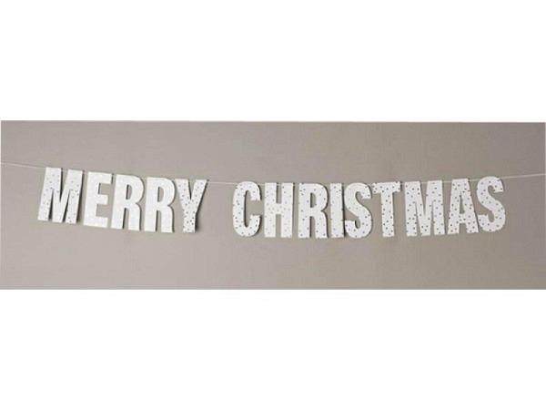 Girlande PaperPoetry Merry Christmas mit 3 m Garn